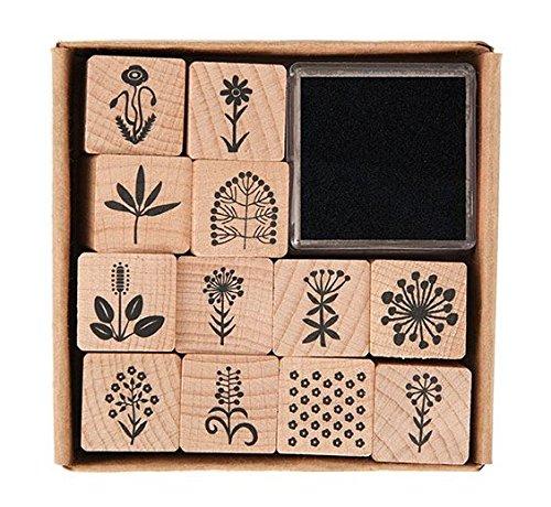 Rico Design Kit tamponi in legno fiori natura 7038.35.00