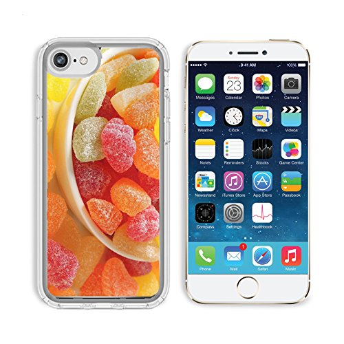 Granulated Drop (Luxlady Apple iPhone 6/6S Clear case Soft TPU Rubber Silicone Bumper Snap Cases iPhone6/6S IMAGE ID 21401477 Fruit shaped gummy candy coated in granulated sugar)
