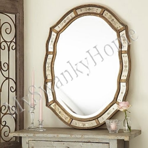 Preferred Amazon.com: Shaped Victorian Venetian Etched Frameless Wall Mirror  QH48
