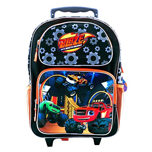 (Nickelodeon Blaze and the Monster Machines Rolling Backpack Travel Luggage All Purpose Bag (Large 16