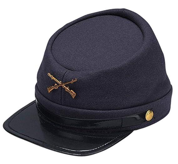 d35b7ab674f Amazon.com  Jacobson Hat Company Adults Civil War Yankee Union North  Soldier Hat Costume Accessory