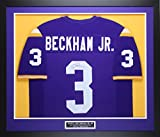 Odell Beckham Jr Autographed and Framed Purple LSU Jersey Auto JSA COA D1-M(Free Shipping!!)