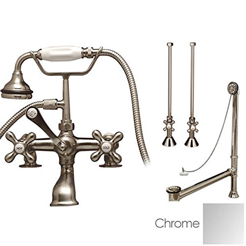 (Randolph Morris Clawfoot Tub Rim Mount English Telephone Faucet - Complete Set)