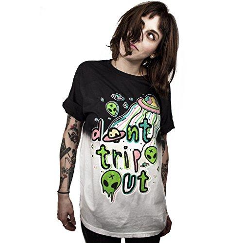 MHOTCIG Fashion Couple Tops Women Summer Casual T Shirt Punk Sleeve Printed T-Shirts