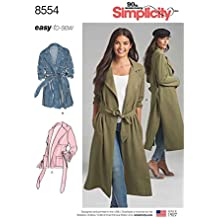 Simplicity Pattern 8554 Misses' and Miss Petite Coats and Jackets Size 14-22 Sewing Pattern