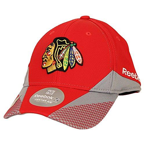 Reebok NHL Center Ice Stretch Fit Hat (Chicago Blackhawks, L/XL)