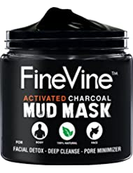 Activated Charcoal Mud Mask - Made in USA - For Deep...