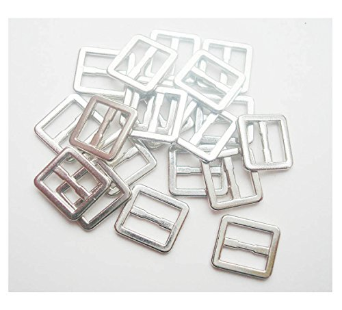 20pcs/lot Inner Width 6mm DIY Patchwork Buckle Handmade Sewing Mini Buckle for bjd Dolls Dolls Clothing Adjustable Button (Silver)
