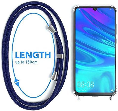 Suave Silicona Transparente TPU Carcasa de movil con Colgante//Cadena YuhooTech Funda con Cuerda para Huawei P Smart, Negro Mate Anti-rasgu/ños Anti-Choque Moda y Practico
