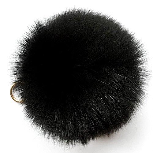 mfurs - Llavero (12,7 cm, pompones, de piel de zorro, para bolso de mano), multicolor
