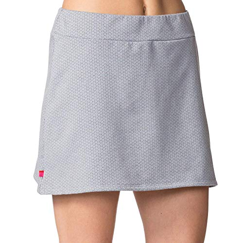 Terry Bicycle Thermal Stretch Mini - Women's Cycling Skirt Comfortable, Breathable and Warm Fabric for Total Freedom of Movement - Textured Gray - Small