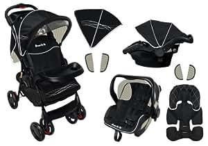 Dream On Me Wanderer Travel System Stroller and Car Seat, Black