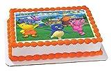 """Backyardigans - Edible Cake Topper - 10"""" x 16"""" (1/2 sheet) rectangular"""