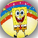 Fondant Tortenaufleger Geburtstag  Spongebob T8 1