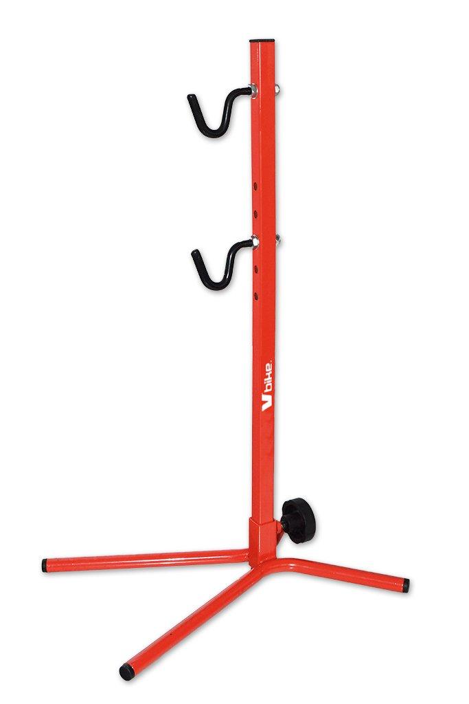 Expositor garajes Tija trasera ajustable revestimiento Rojo hasta 29/bicicletas