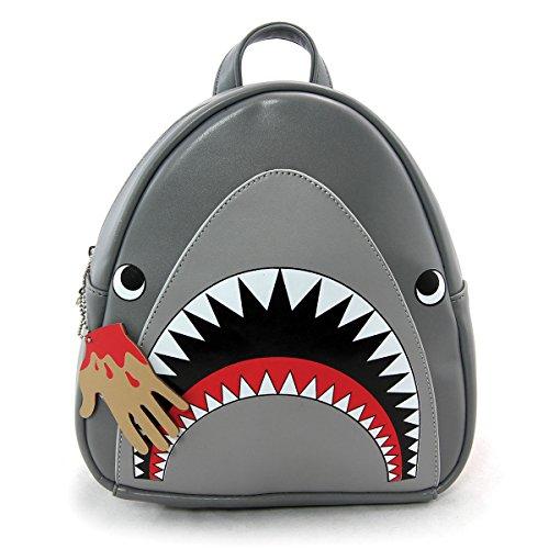 Face Zeckos Zeckos Grey Scary Grey Backpack Scary Shark Shark Mini qgwBRZ6
