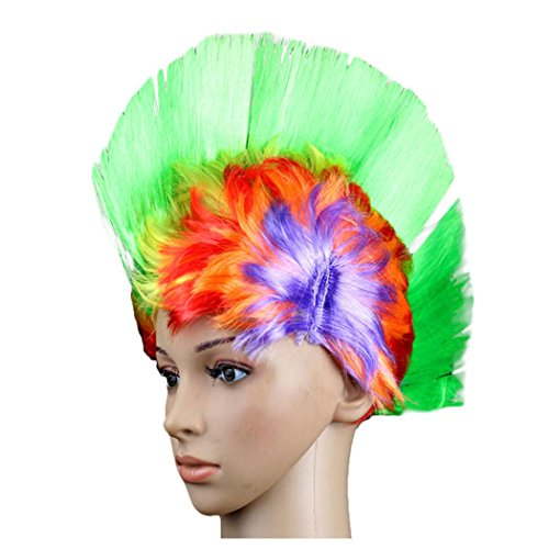 Women Bob Wigs, Inkach Chic Girls Hallowmas Masquerade Punk Mohawk Mohican Hairstyle Cockscomb Hair Wig -