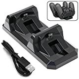 ADVcer Dual PS4 Controller Charging Station, Dualshock 4 Gamepad Charge Dock / Vertical Charger and Storage Stand Pad for Dualshock4 of SONY Playstation4 or Playstation 4 Pro, 4 Slim For Sale