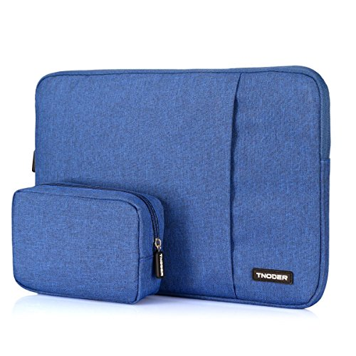 Tnoder 13.3 inch Laptop Sleeve Case Cover with Extra Pocket Compatible MacBook Air/Retina MacBook Pro/12.9 inch iPad Pro Light(Blue) by Tnoder