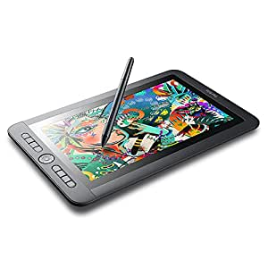 """Parblo Coast13 13.3"""" IPS 1920x1080 Graphic Tablet Drawing Monitor with 8 Customizable Keys and Battery-free Passive Pen + USB Type C Cable"""