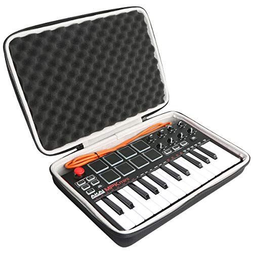 Khanka Hard Travel Case Replacement for Akai Professional MPK Mini MKII 25-Key USB MIDI Controller