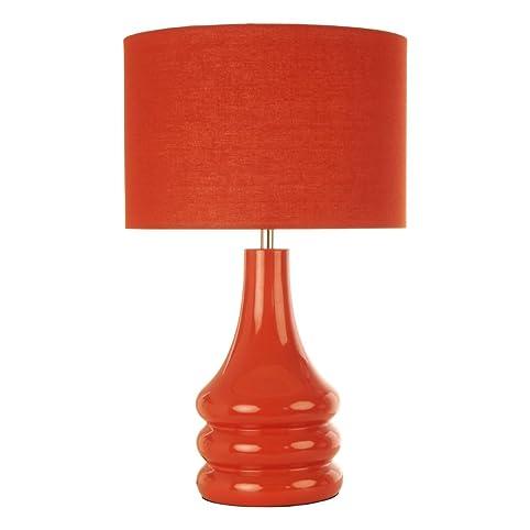Raj Table Lamp Shade Colour: Burnt Orange: Amazon.co.uk: Lighting