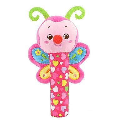 DDG EDMMS mariposa sonajero juguete de peluche juguete que cuelga cuna, cochecito de bebé coche de juguete cama de asiento, juguete del desarrollo de la actividad recién nacido, bebé que cuelga d: Bebé