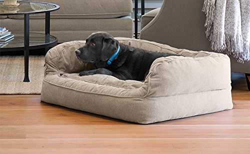 Cheap Orvis Comfortfill Couch Dog Bed/Large Dogs 60-90 Lbs, Heathered Khaki,