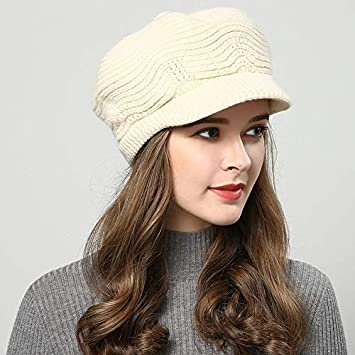7f5e8e3c298 HOKUGA winter hats for women Skullies Beanies hand made hats 2018 New women s  hat knitted cap