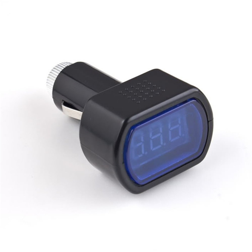 Voltm/ètre de voiture avec prise allume-cigare et testeur de batterie LED num/érique 12 V//24 V
