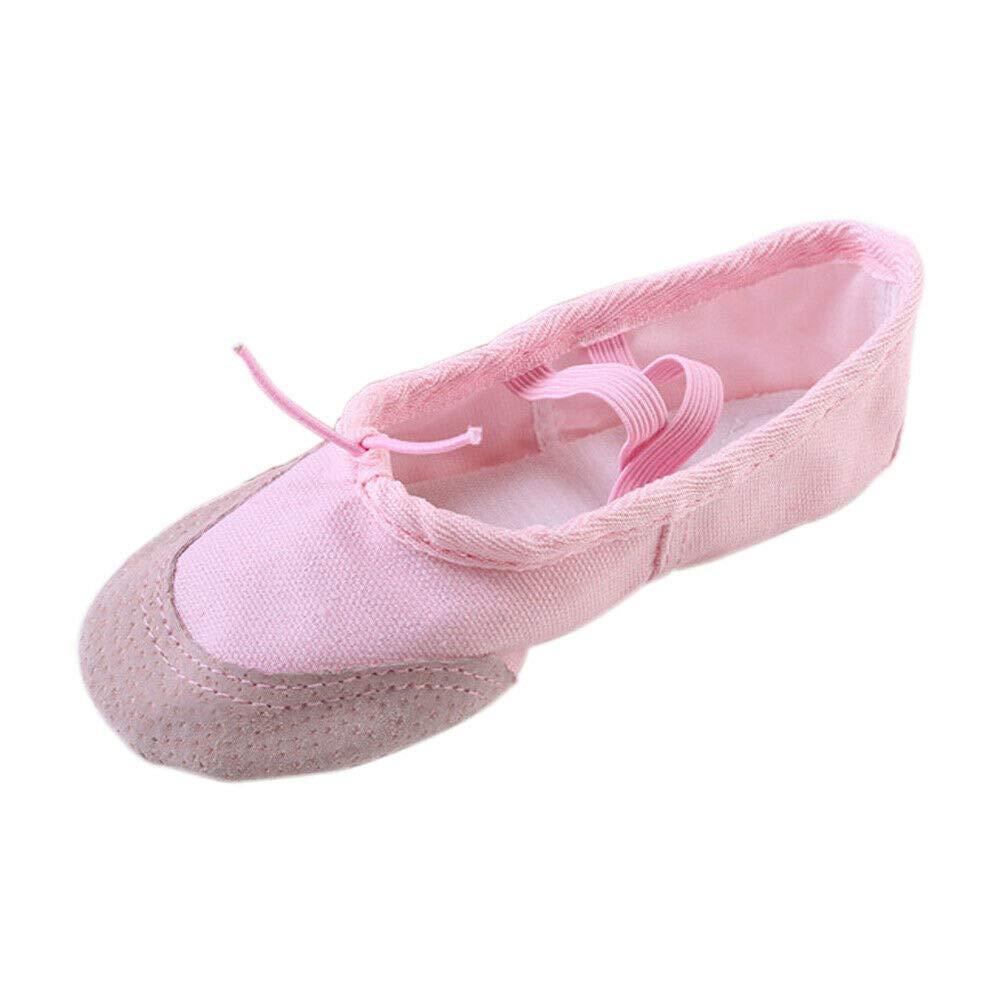 bdea13316c4c9 Goyajun Filles Femmes Chaussures de Ballet Toile Bande Élastique Gymnastique  Yoga Formation Chaussons de Danse Cordon Réglable Chaussons Plates ...