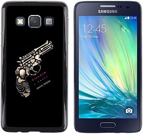 Opción de regalo/Slim carcasa SmartPhone de móvil para Samsung Galaxy A3 // Pistola huesitos matar retribuido cráneo texto //: Amazon.es: Electrónica