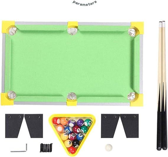 TY-Pool Table MMM@ Mini Mesa de Billar Infantil Verde pequeño Billar doméstico Juguetes para niños Mesa de Juego Tenis de Mesa Verde Taco de Madera Maciza plástico Esquina protección niños: Amazon.es: Hogar