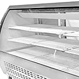 Amazon Limited Time Special Price! Commercial Deli Case Refrigerator with curved glass 82'' with LED lighting