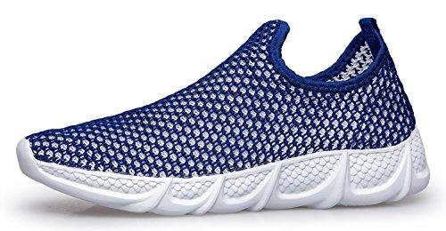 Walking Slip Running Blue Loafer Lightweight Womens On Shoes Mesh Dreamcity CTw60xqt