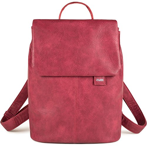 zwei Mademoiselle MR13 Damen-Rucksack 37 cm, yellow Blood (Rot)