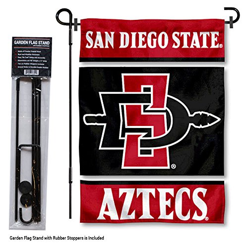 College Flags and Banners Co. San Diego State Aztecs Garden Flag with Stand Holder