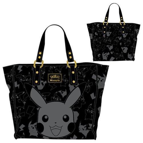bed53926b320 Pokemon Pikachu Black Embossed Tote Purse