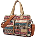 Kinmac New Bohemian Laptop Messenger Shoulder Bag for Macbook Pro 15 and 15 inch 15.6 inch Dell Hp Lenovo Sony Toshiba Ausa Acer Samsung Laptop