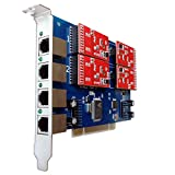 4 Port Analog Card with 4 FXO Ports Supports FreePbx Elastix Trixbox Asterisk PCI Card tdm410