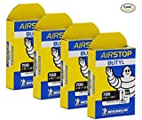 Michelin Airstop PRESTA Valve 700 x 18-25C 40mm Bicycle Tube - 4 PACK - NEW IN BOX