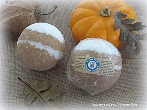 Starbucks inspired Basic Girl Pumpkin Spice Latte bath bomb