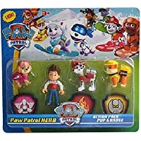 Radhey Preet Paw Patrol Action Pup & Badge, Ryder, Tracker, Robot Dog, Everest, Fun Loving Toy for Kids (Multicolor, Design May Vary)