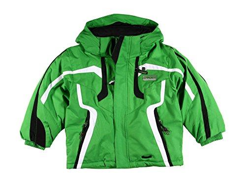 - Spyder Mini Leader Green Black White Hooded Insulated Jacket Coat 2 2T
