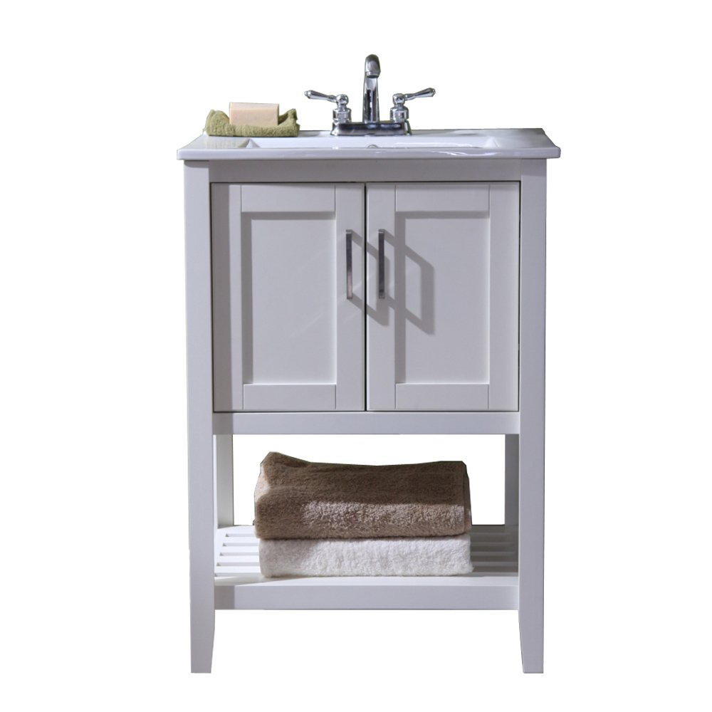 Bathroom sink and vanity combo - Legion Furniture Wlf6020 W 24 Single Sink Bathroom Vanity With Ceramic Sink Top White Finish Vanity Sinks Amazon Com