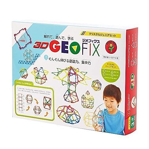 3D GEOFIX (Jiofikusu) / Geo Shapes Crystal Junior set (Geo Crystals)