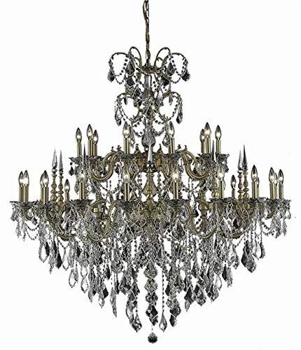 (Elegant Lighting Chandelier Athena Traditional Antique Foyer 30-Light Hallway French Gold)