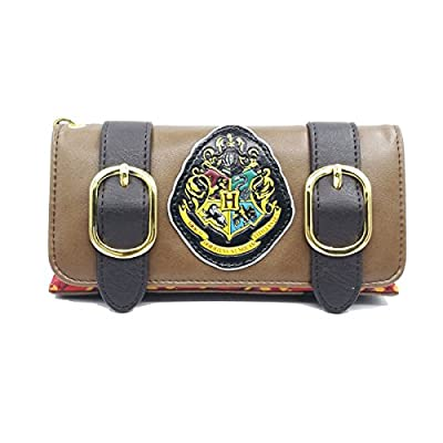 Wallets for Women Harry Potter Hogwarts Fold Wallet Wrist strap Clutch Purse