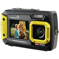 Ivation 20MP Underwater Shockproof Digital Camera & Video Camera w/Dual Full-Color LCD Displays - Fully Waterproof & Submersible Up to 10 Feet (Yellow) Overview Review Image