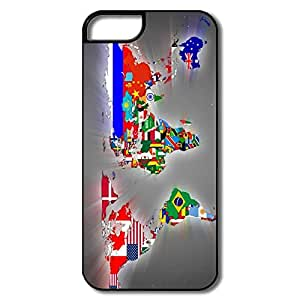 Custom Flag World Map Skins For Iphone 5/5s